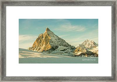 The Sun Sets Over The Matterhorn Framed Print