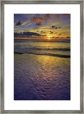 Framed Print featuring the photograph The Sun Sets Softly In Molokai by Tara Turner
