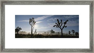 The Sun Shines Above Rock Formations Framed Print by Bill Hatcher