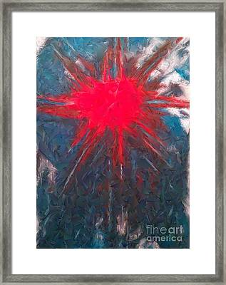 The Sun Shines Through Framed Print by Jacqueline McReynolds