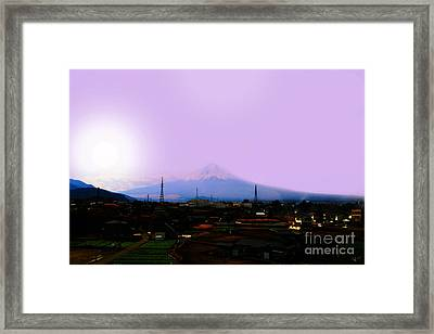 The Sun Still Rises In Japan . All Proceeds Will Go To Japan Earthquake And Tsunami Relief Aid 2011 Framed Print by Wingsdomain Art and Photography