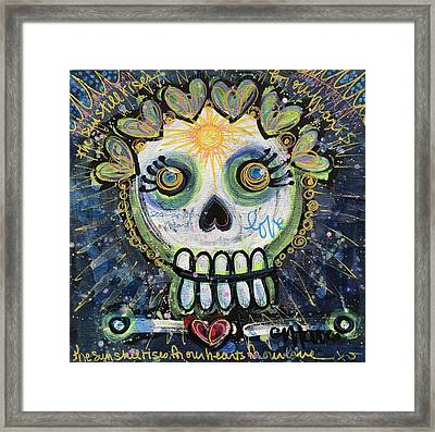 The Sun Still Shines For Our Hearts Framed Print by Laurie Maves ART