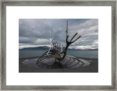 The Sun Voyager, Reykjavik, Iceland Framed Print
