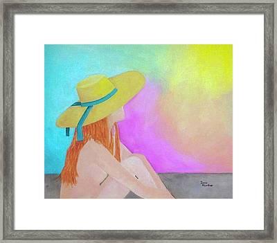 The Sunbathing Framed Print