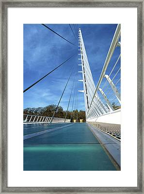 Framed Print featuring the photograph The Sundial Bridge by James Eddy