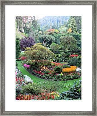 The Sunken Garden Framed Print
