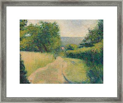 The Sunken Lane Framed Print