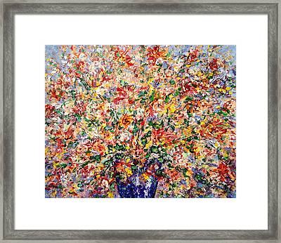 The Sunlight Flowers Framed Print