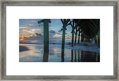 The Sunrise Topsail Island Framed Print by Betsy Knapp
