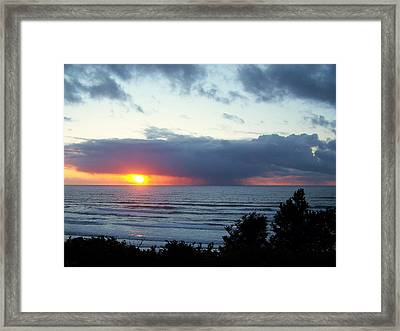 The Sunset And The Storm Framed Print