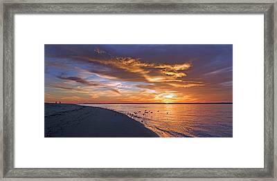 The Sunset Movie Framed Print