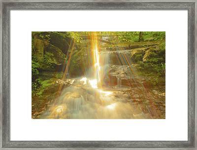 The Sunset  On Jones Falls Framed Print by Glenn Vidal