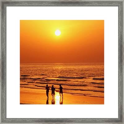 The Sunset Run Framed Print by Sunaina Serna Ahluwalia