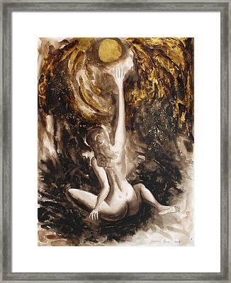 The Sunworshipping One Framed Print