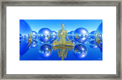 Framed Print featuring the painting The Superficial Illusion Of Duality by Robby Donaghey