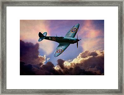 The Supermarine Spitfire Framed Print by Chris Lord