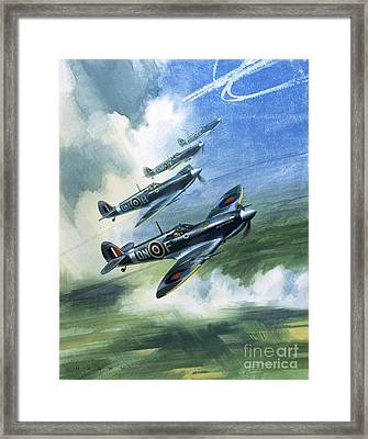The Supermarine Spitfire Mark Ix Framed Print by Wilfred Hardy