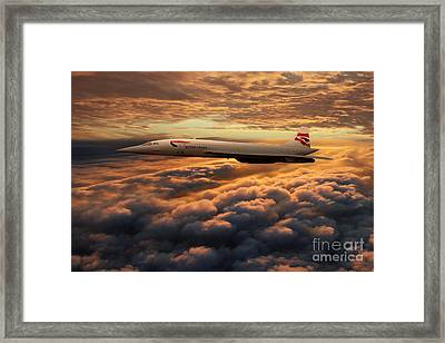 The Supersonic Concorde Framed Print