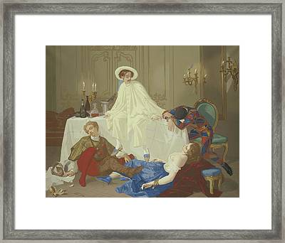 The Supper After The Masked Ball Framed Print by Thomas Couture