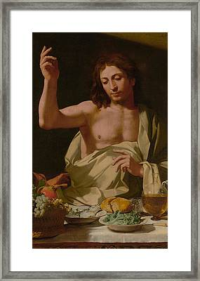 The Supper At Emmaus-detail Framed Print