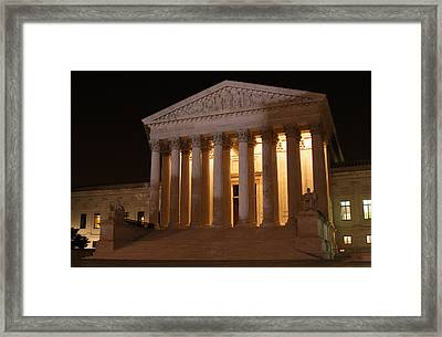 The Supreme Court Building At Night Framed Print by Brian M Lumley