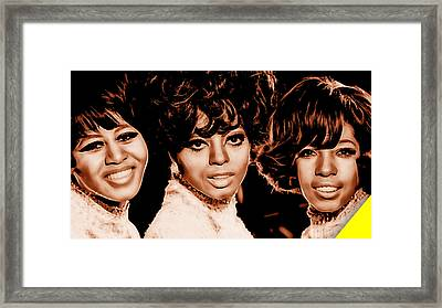 The Supremes Collection Framed Print by Marvin Blaine