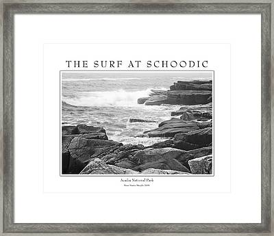 The Surf At Schoodic Framed Print by Peter Muzyka