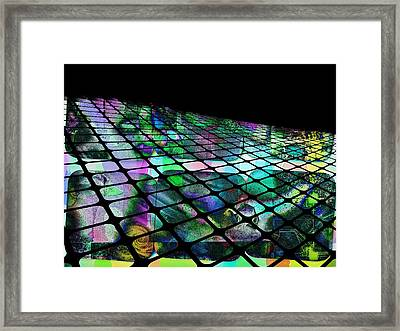 The Surface Of Color Framed Print by Contemporary Art