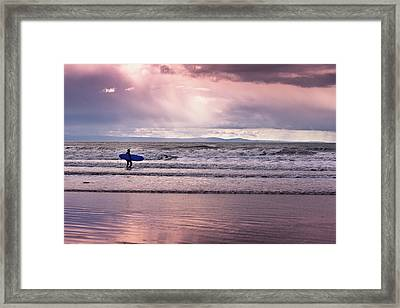 The Surfer Framed Print by Justin Albrecht