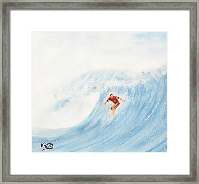 The Surfer Framed Print by Ken Powers