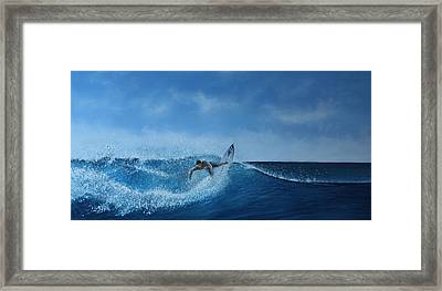 The Surfer Framed Print by Paul Newcastle