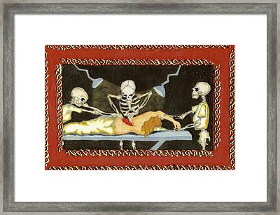 The Surgeon's Rape Framed Print by Cathy Germay