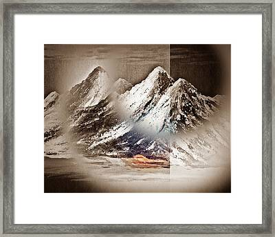 The Surreal Mountains Number Two Framed Print