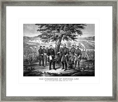 The Surrender Of General Lee  Framed Print by War Is Hell Store