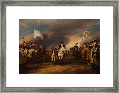 The Surrender Of Lord Cornwallis At Yorktown Framed Print by Mountain Dreams