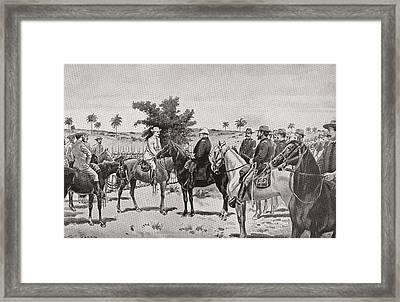 The Surrender Of Santiago De Cuba By Framed Print