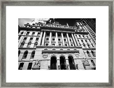 the surrogates courthouse New York City USA Framed Print