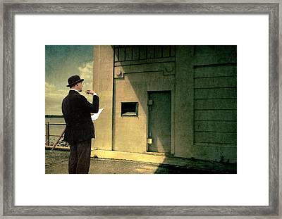 The Surveyor Framed Print by Mel Brackstone