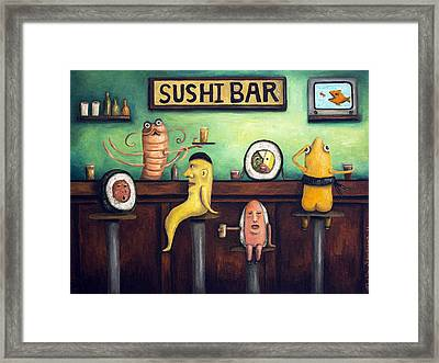 The Sushi Bar Framed Print