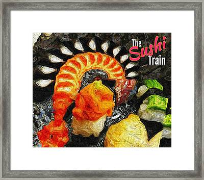 The Sushi Train Framed Print by ISAW Gallery