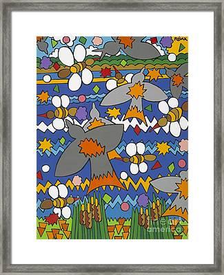 The Swallows Framed Print by Rojax Art