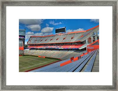 The Swamp - North End Zone Framed Print