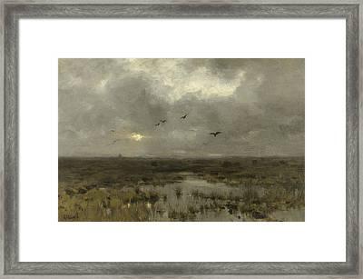 The Swamp Framed Print by Anton Mauve