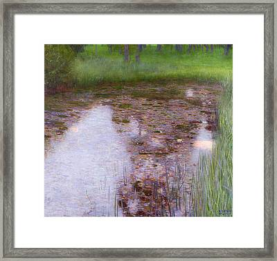 The Swamp Framed Print by Gustav Klimt