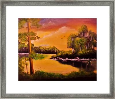 The Swamp Framed Print by Manuel Sanchez