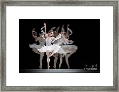 Framed Print featuring the photograph The Swan Ballet Dancer by Dimitar Hristov