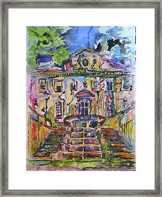 The Swan House Framed Print