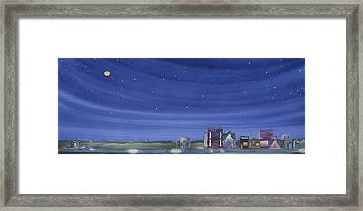 The Sweetest Little Town In The Prairie II Framed Print by Scott Kirby