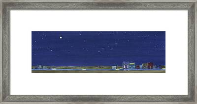 The Sweetest Little Town In The Prairie Framed Print by Scott Kirby