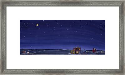 The Sweetest Little Town On The Prairie V Framed Print by Scott Kirby